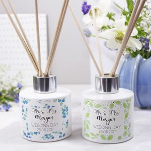 Wedding Day Reed Diffuser Gift Set - personalised wedding gifts