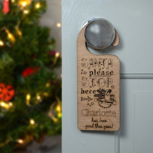 Christmas Please Stop Here Door Hanger