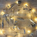 Handpainted Silver Leaf LED Fairy Lights