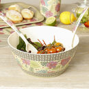 Botanical Bamboo Plastic Summer Serving Set