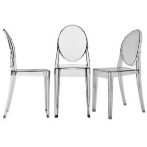 Clear Transparent Chair, Ghost Style Dining Chair