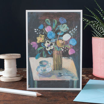 Flower Art Card For Any Occasion