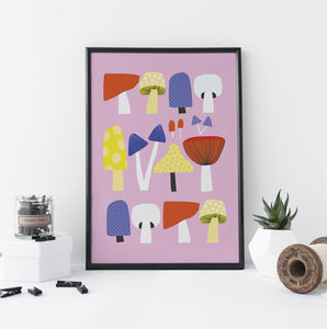 Mushroom Collection Print