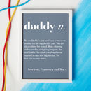 Personalised Dad Or Daddy Dictionary Print