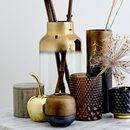 Gold And Glass Ombre Vase