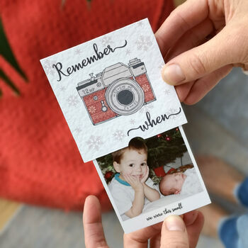 Personalised Christmas 'Remember When' Slider Photo