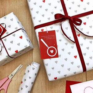 Mini Love Messages Valentine's Day Wrapping Paper Set