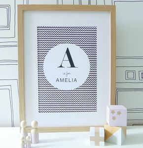 Personalised Initial Nursery Print