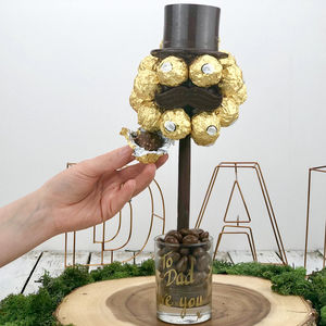 Ferrero Rocher Hat And Moustache Tree - novelty chocolates