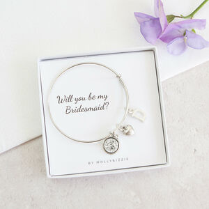 Personalised Will You Be My Bridesmaid Bangle