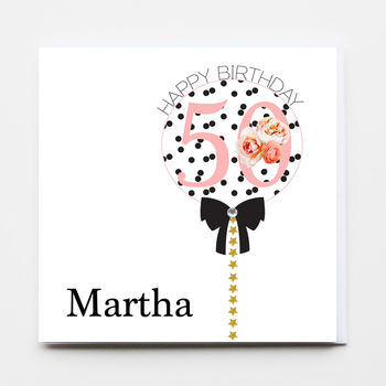 Birthday Balloon Greeting Card