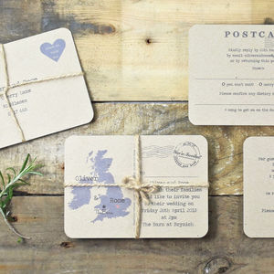 Vintage Postcard Recycled Invitation