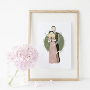 Personalised Wedding Portrait - paintings