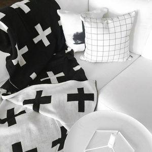 Reversible Swiss Cross Blanket