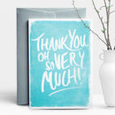 Brush Thank You Greeting Card