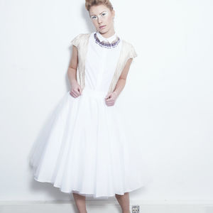 Tulle Midi Skirt With Petticoat - skirts & shorts