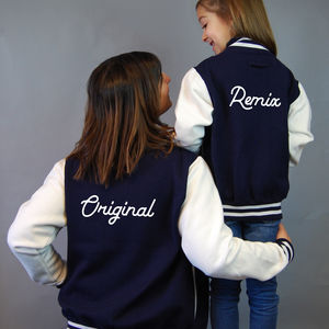 Mum And Child Personalised Varsity Jacket Set - coats & jackets