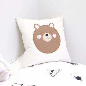 Bear Nursery Cushion - living room