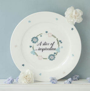 Personalised Inspiration Cake Plate - dining room