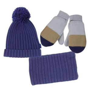 Childrens French Designer Hat And Scarf Set