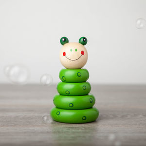 Wooden Stacking Puzzle Building Frog - traditional toys & games