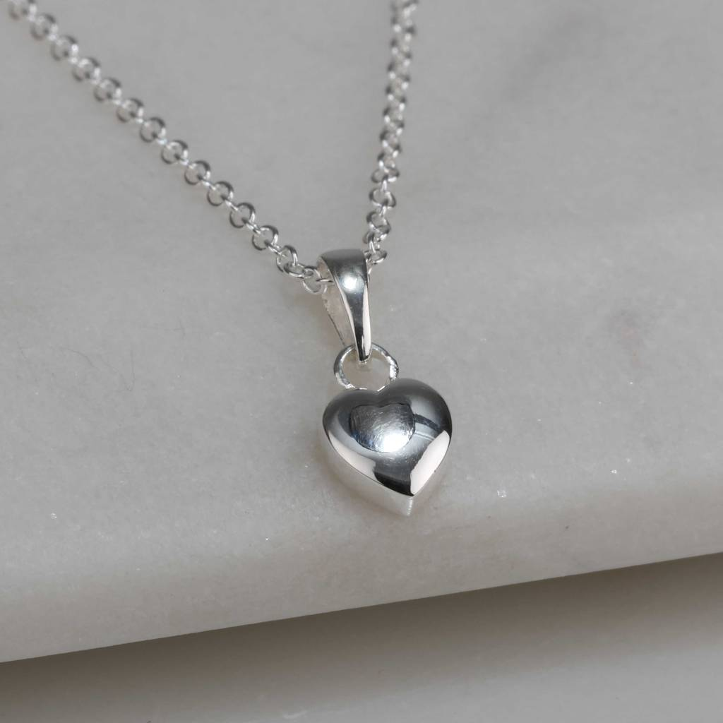Childrens solid silver heart pendant by nest notonthehighstreet childrens solid silver heart pendant aloadofball