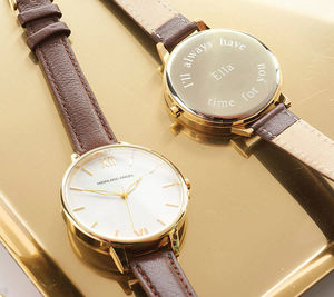 Ladies' Watch With Leather Strap - by year