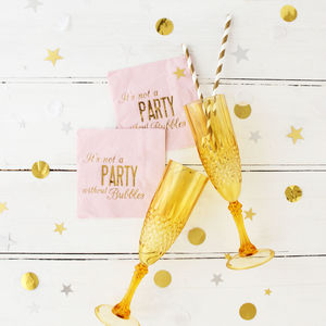 Gold Champagne Prosecco Flute - table decorations