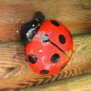 Ladybird Garden Sculpture - art & decorations