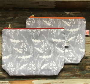 Cowparsley Luxury Cotton Wash Bags - make-up & wash bags