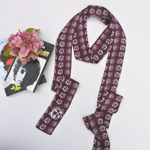 Bells And Buttons Silk Skinny Scarf