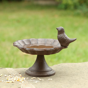 Personalised Cast Iron Bird Bath Collection - bird feeders