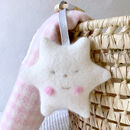 Star Cashmere Baby Teether In Personalised Gift Box