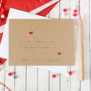 I Love You, Morse Code Anniversary Card, Valentine - engagement cards