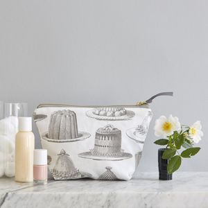 Grey Jelly And Cake Cosmetic Bag