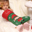 Personalised Girls And Boys Elf Christmas Stockings