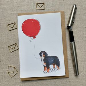 Personalised Bernese Mountain Dog Birthday Card
