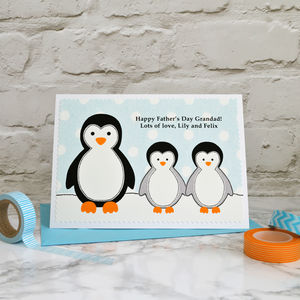 'Penguins' Father's Day Card From Children