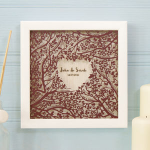 Personalised Woodland Wedding Wall Art