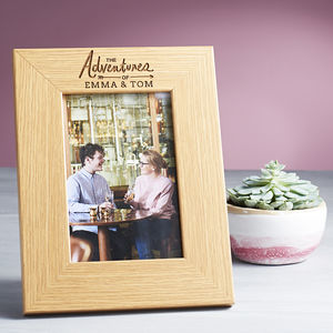 'The Adventures Of' Personalised Photo Frame - home