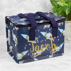 Personalised Space Boy Lunch Bag