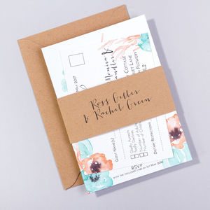 Wedding Save The Date And Invite : Flotsam And Jetsam - wedding stationery