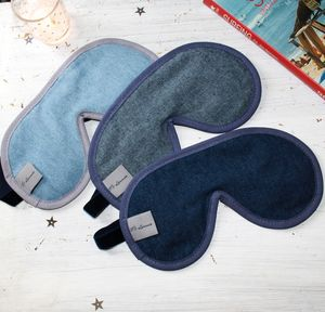 Men's Luxury Denim Sleep Masks With Lavender - eye masks & neck pillows