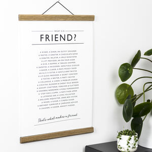 Friend Poem Print