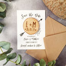 Wood Save The Date Magnet