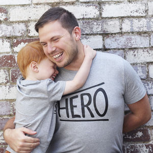 Father's Day 'Hero' Organic T Shirt - what's new