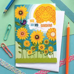 Birthday Card - You Are My Sunshine - gifts