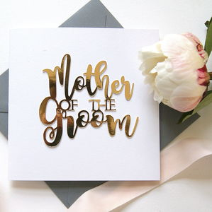 Mother Of The Groom Card - wedding cards