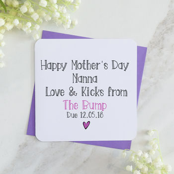 Happy Mother's Day Grandmother From The Bump T