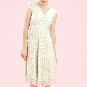 Special Occasion Dress In Ivory Flower Lace - dresses